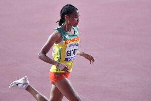 Etiópska vytrvalkyňa Letesenbet Gideyová.