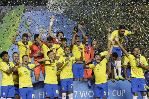 Futbalisti Brazílie do 17 rokov.