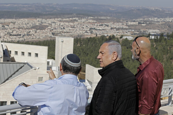 Izraelský premiér Benjamin Netanjahu. Alon Shvut, 19. november 2019.