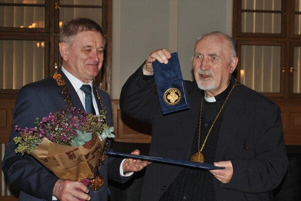 Župan Milan Belica aLadislav Belás.