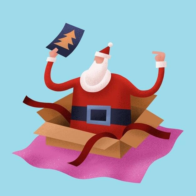 Santa v krabici