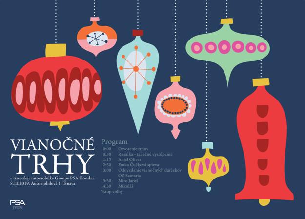 Program vianočných trhov.