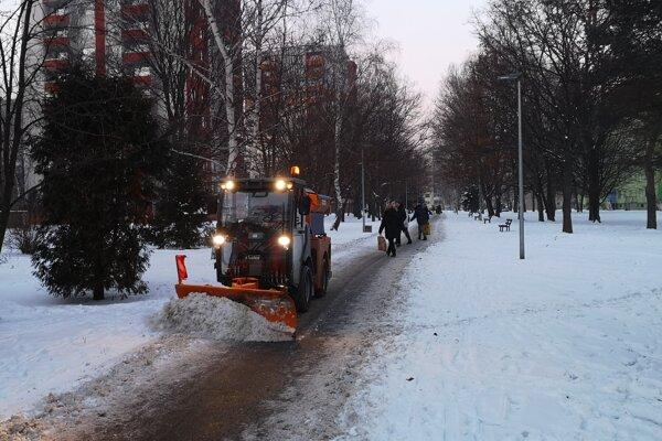 Zimná údržba v Prešove.