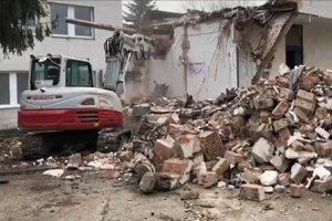 Búracie práce v komárňanskej nemocnici.
