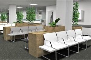 Takto budú vyzerať vstupné priestory nového pracoviska.