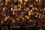 Klimatický protest v Španielsku.
