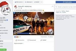 Policajti si facebook pochvaľujú.