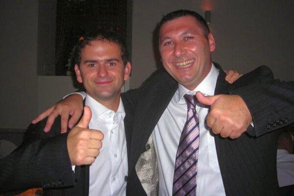 Róbert Madej (Smer) a Antonino Vadala (vpravo).