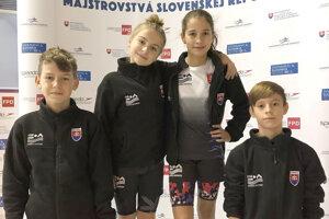 Plavci UMB - zľava Lapin, Jankovičová, Malíková, Parižek