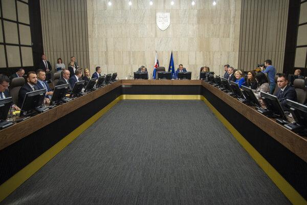 Rokovanie 189. schôdze vlády SR v stredu 11. decembra 2019 v Bratislave.