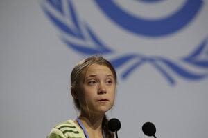 Greta Thunbergová v Madride.