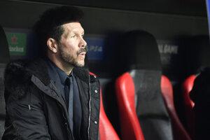 Tréner Atletica Madrid Diego Simeone.