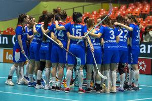Slovenské reprezentantky vo štvrťfinále MS vo florbale.