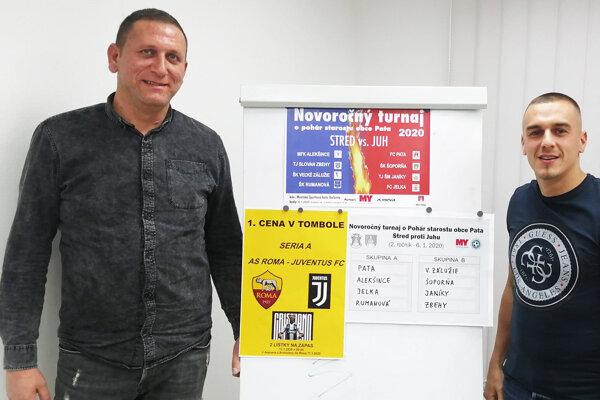 Ladislav Herák a Lukáš Herák z FC Pata pozývajú priaznivcov futbalu na druhý ročník turnaja.