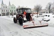 Zimná údržba v Žiline.
