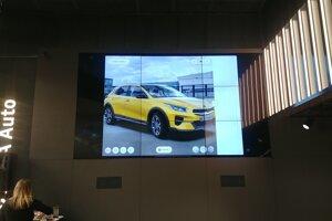 Obrazovka s konfigurátorom v Kia In-Store.