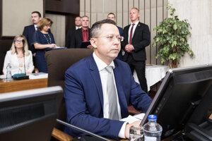 Minister financií Ladislav Kamenický.