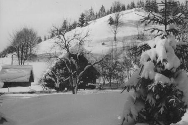 Zima v kysuckej Harvelke.