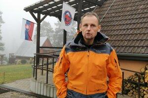 Ivan Krajčír, náčelník HZS Slovenský raj. Podľa neho signalizačné balóny sú plusom k bezpečnosti.
