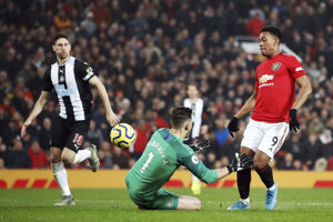 Zápas Manchester United - Newcastle United.