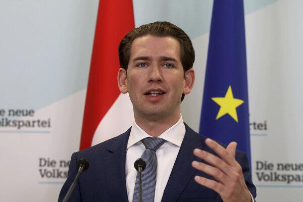 Líder Rakúskej ľudovej strany Sebastian Kurz.
