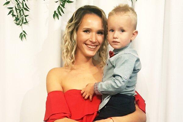 Karin Radová so synom Sebastiánom.