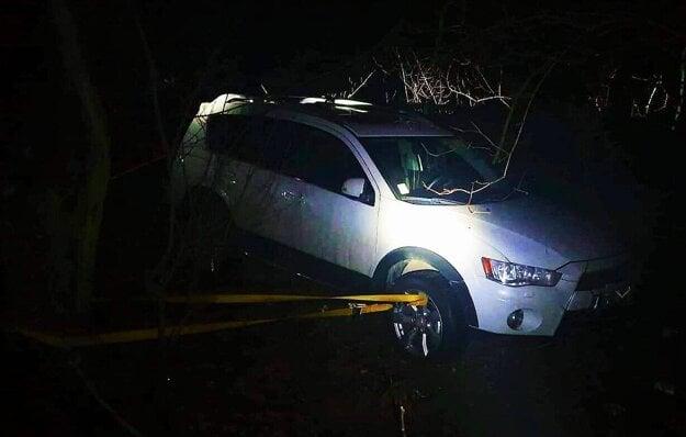 Auto priviazal o strom.