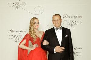 Boris Kollár, poslanec Národnej rady SR, predseda strany Sme rodina s dcérou Alexandrou