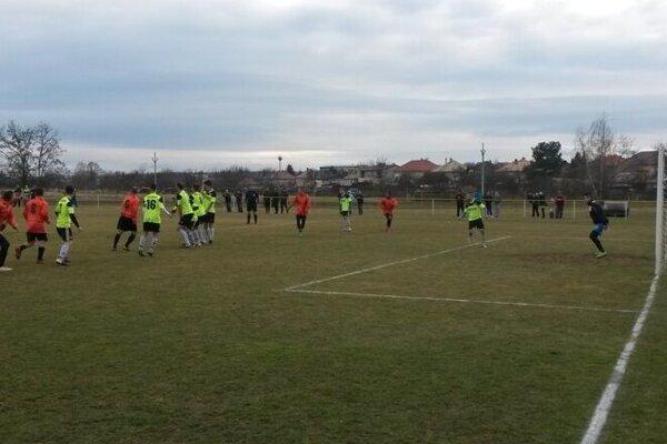 Momentka zo Zimného pohára ObFZ Lučenec 2019.