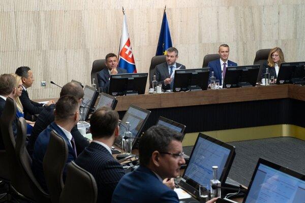 Zo zasadnutia 191. schôdze vlády SR 15. januára 2020 v Bratislave.