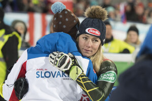 Mikaela Shiffrinová a Livio Magoni, tréner Petry Vlhovej.