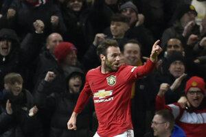 Juan Mata po strelenom góle.