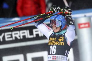 Víťazka paralelného obrovského slalomu v Sestriere 2020 Clara Direzová.