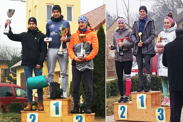 Traja najlepší muži na 9 km a tri najlepšie ženy na 4,5 km.