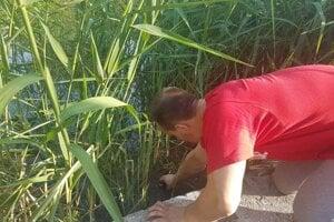 Meranie hladiny vody v Kúcanke.