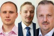 Zľava Michal Mešťan, Ján Šebo a Michal Nalevanko