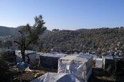 Utečenecký tábor Moria na ostrove Lesbos.