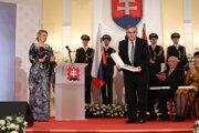 Ondrej Demáček pri preberaní ocenenia.