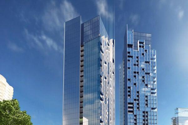 Vizualizácia projektu Portum Towers.