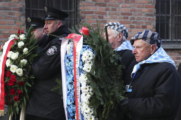 Spomienkvá akcia v bývaalom koncentračnom tábore Auschwitz-Birkenau.