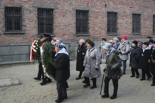 Spomienková akcia pri príležitosti oslobodenia koncentračného tábora Auschwitz-Birkenau.