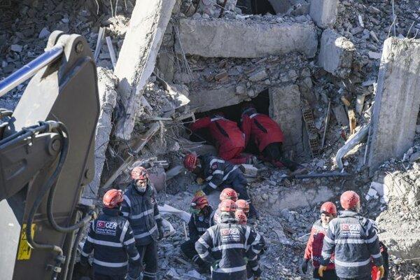 Zásah záchranárov v meste Elazig.
