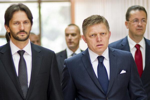 Robert Kaliňák, Robert Fico a Martin Glváč