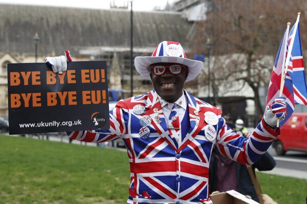 V Británii sa konajú viacero oslavné podujatia pri príležitosti odchodu z Európskej únie.