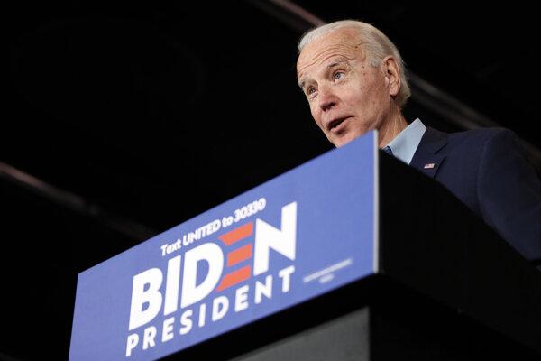 Jeden z favoritov demokratov Joe Biden.