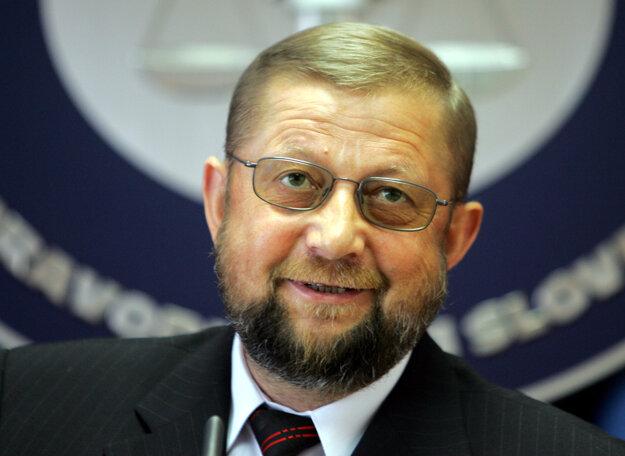 Štefan Harabin ako minister srpavodlivosti v roku 2006.