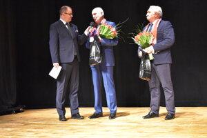 Marcel Merčiak a ocenení Vladimír Varga a Ján Leško.