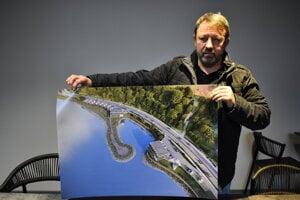 Peter Petrovka a vizualizácia projektu Yacht Village II.