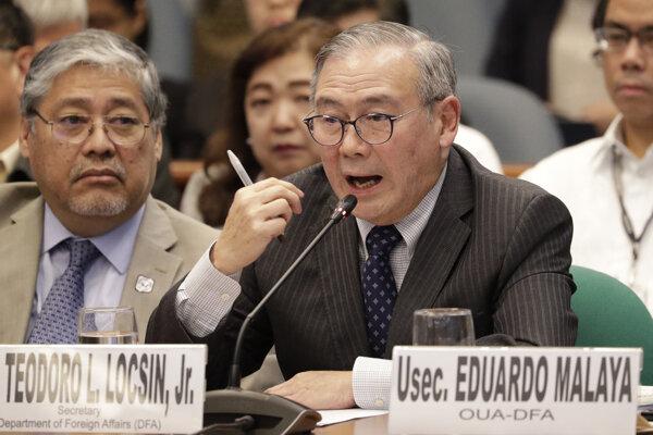 Filipínsky minister zahraničných vecí Teodoro Locsin ml.
