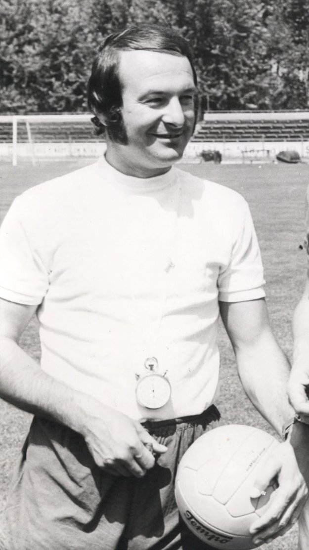 Ján Dinga ako tréner AC Nitra.